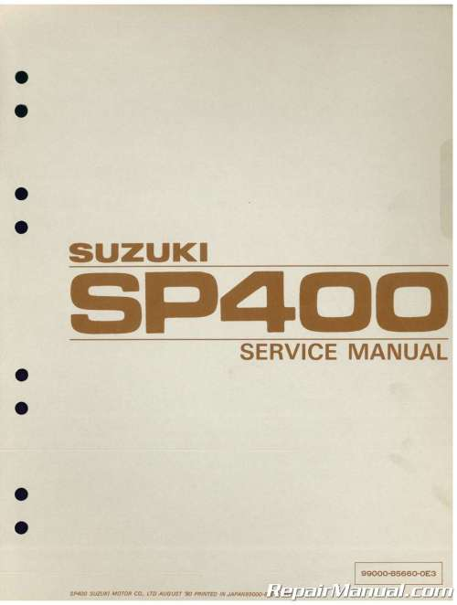 small resolution of gn400 wiring diagram 1980 suzuki sp400 dr400 gn400 motorcycle service manual1980 suzuki sp400 dr400 gn400