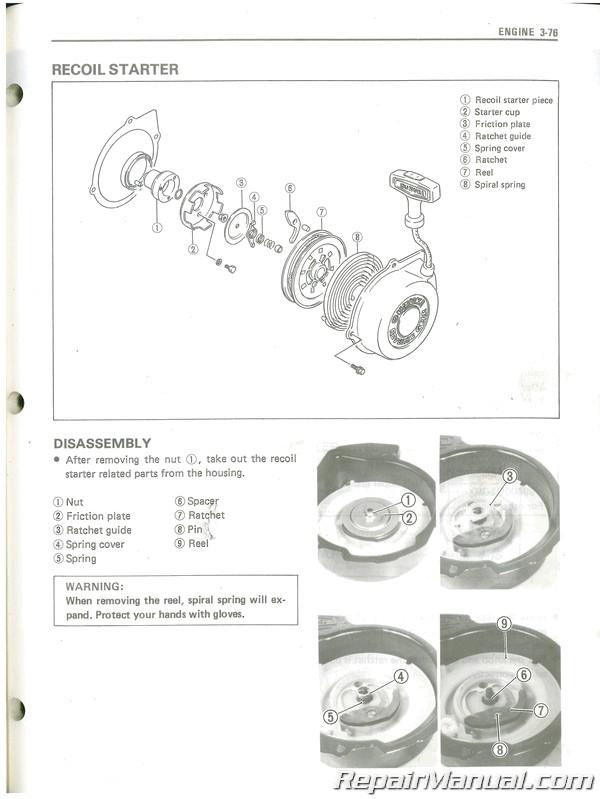 Used 1987 Suzuki LT300E Service Manual