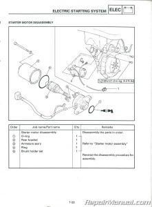 Used 2002-2004 Yamaha YW50 Zuma Scooter Service Manual
