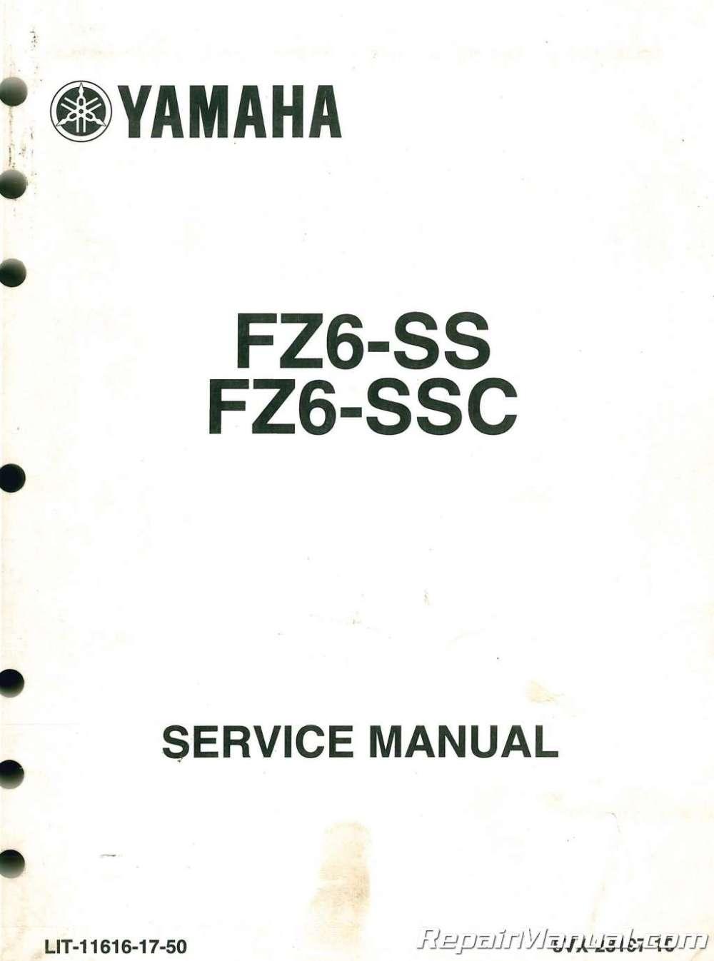medium resolution of used 2004 2006 yamaha fz6 motorcycle service manual