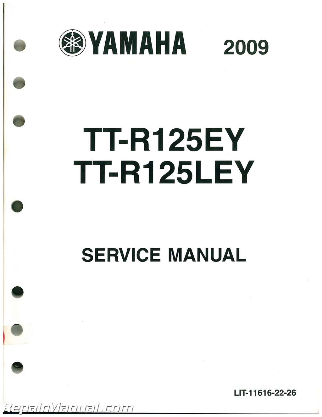 Used 2009 And 2011-2012 Yamaha TTR125E LE Service Manual