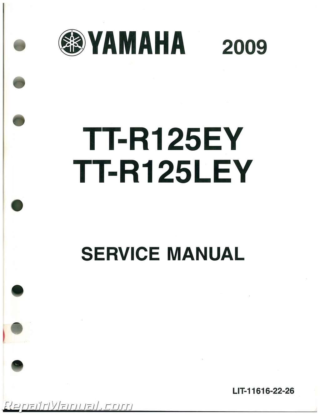 Used 2009 And 2011-2012 Yamaha TTR125E LE Service Manual