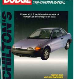 used chilton dodge colt dodge colt vista 1990 1993 repair manual 1990 dodge colt engine diagram [ 1024 x 1403 Pixel ]