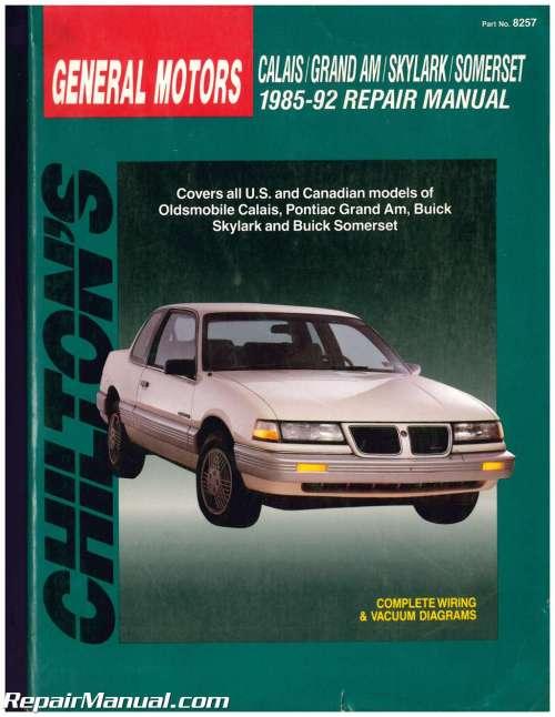 small resolution of used chilton gm grand am calais skylark somerset 1985 1992 repair manual