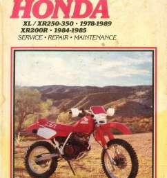 xr350r wiring diagram wiring diagrampin diagram of honda motorcycle parts 1985 xr350r a cylinder onused clymer [ 1024 x 1473 Pixel ]