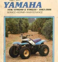 used clymer yamaha ytm200 ytm225 yfm200 1983 1986 repair diagram of 1986 moto4 yfm200dxs yamaha atv shift shaft diagram and [ 1024 x 1493 Pixel ]