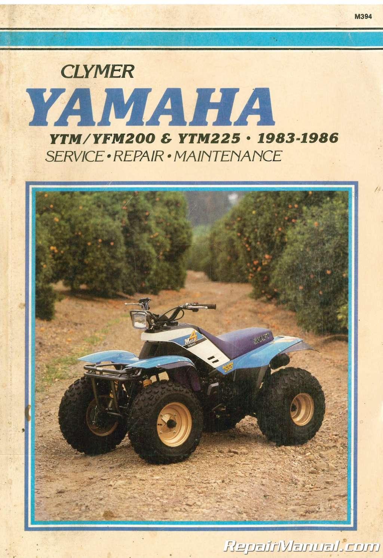 hight resolution of used clymer yamaha ytm200 ytm225 yfm200 1983 1986 repair diagram of 1986 moto4 yfm200dxs yamaha atv shift shaft diagram and