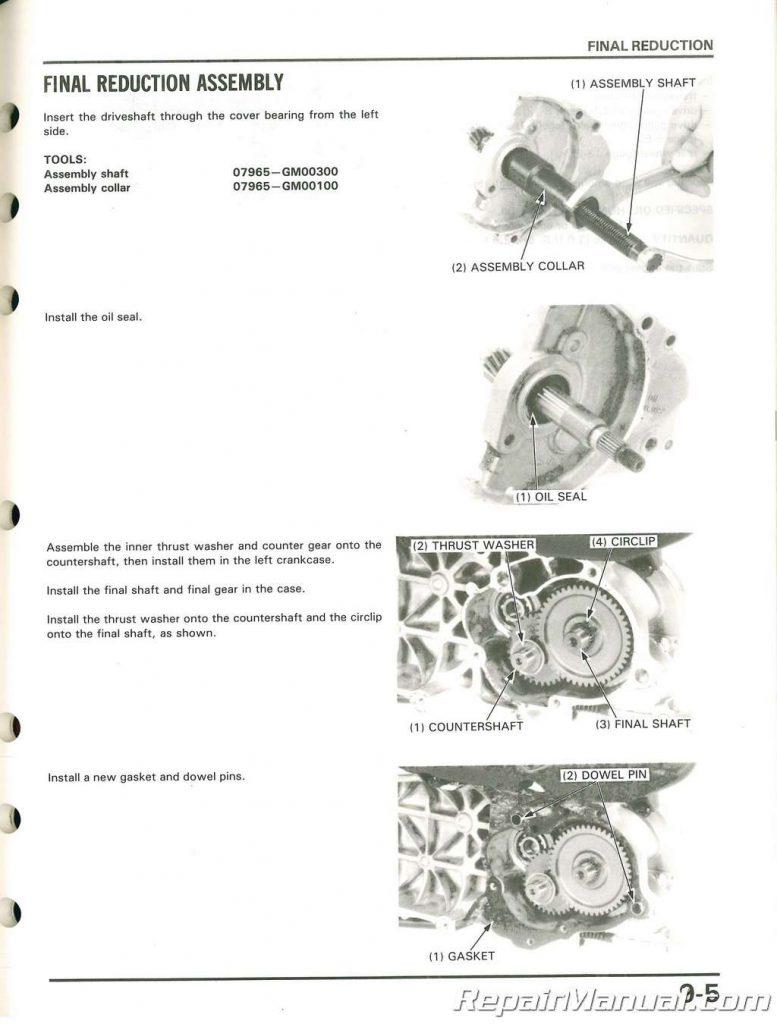 Used Honda 1988 Elite 50 LX Service Manual