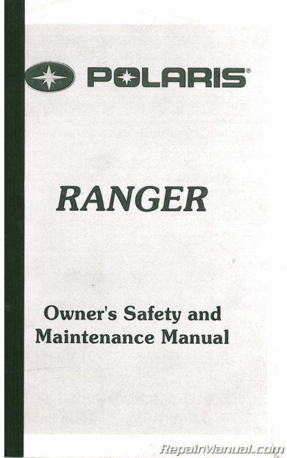 Used Polaris Ranger Series 99 ATV Owners Manual