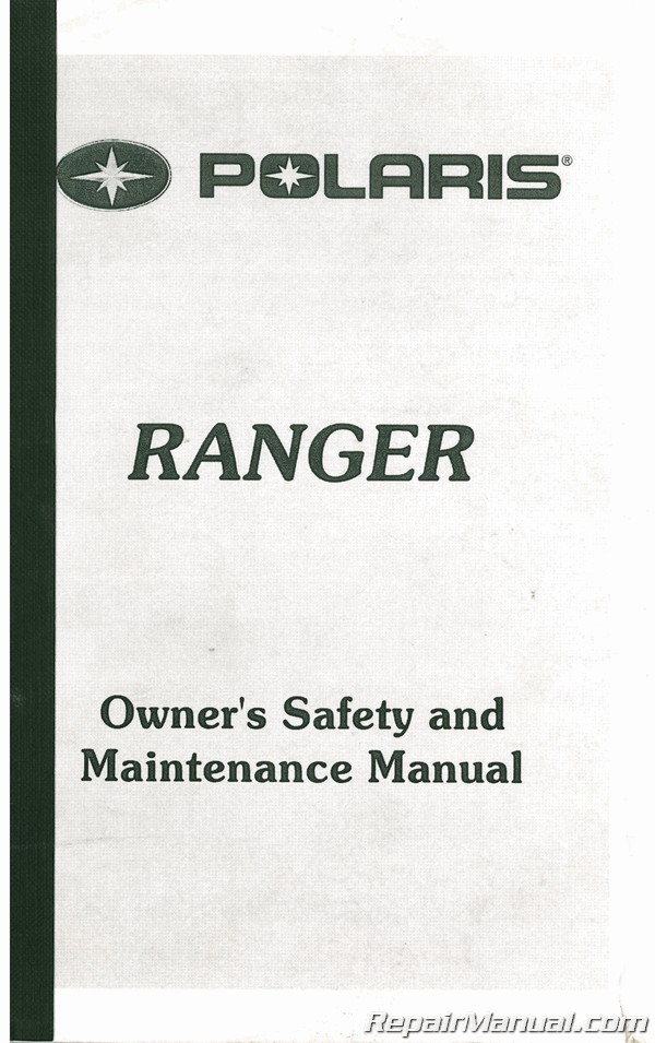 Used Polaris Ranger Series 99 ATV Owners Manual