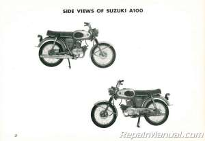 Used Suzuki A100 Owners Manual