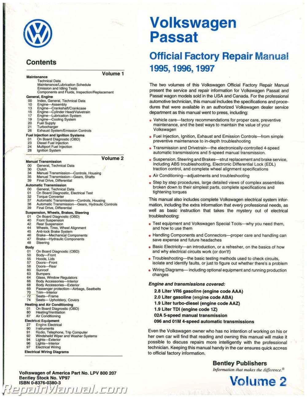 medium resolution of volkswagen passat l wiring diagram manual