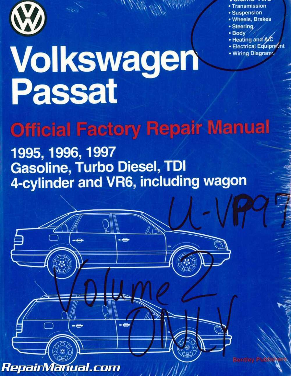 medium resolution of volume 2 only volkswagen passat b4 repair manual 1995 1996volume 2 only volkswagen