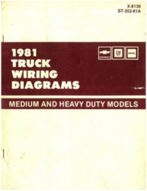 Chevrolet GM GMC Truck Wiring Diagrams Manual Medium and