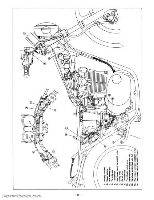 small resolution of 1983 yamaha x 650 wiring diagram