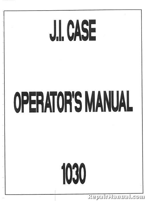 Case-International 1030 Owners Manual