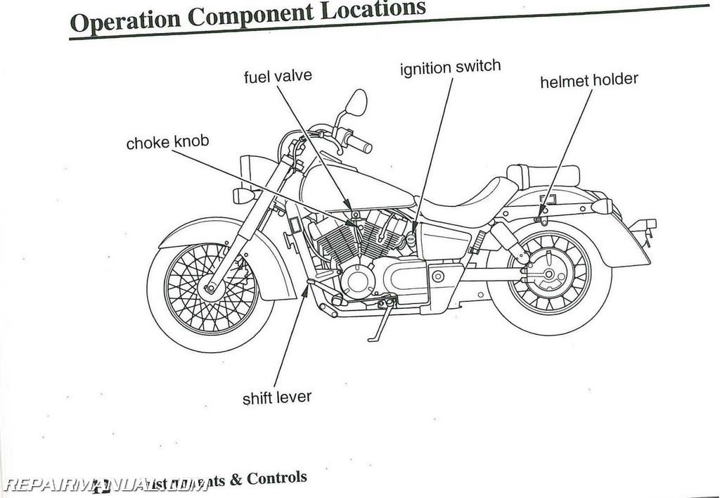 2008 Honda VT750C Shadow Aero Motorcycle Owners Manual
