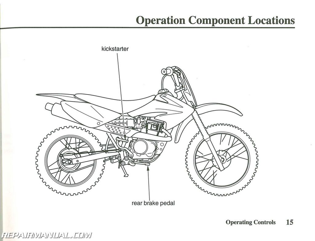 2009 Honda CRF80F Motorcycle Owners Manual