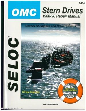 OMC Cobra Stern Drive Boat Engine Repair Manual 19861998