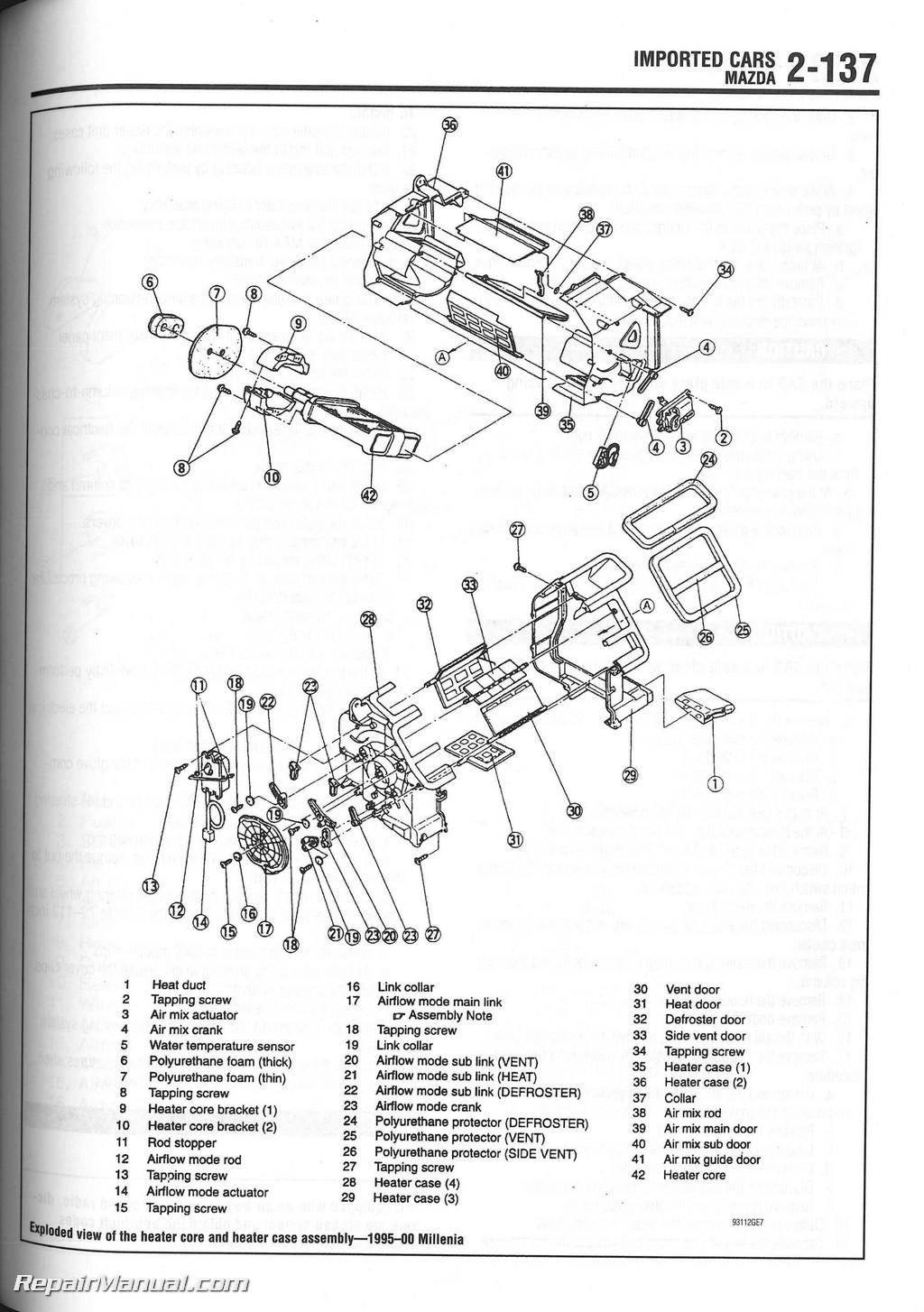 1996 Jeep Cherokee Sport Fuse Box Chilton 1990 2000 Heater Core Installation Manual