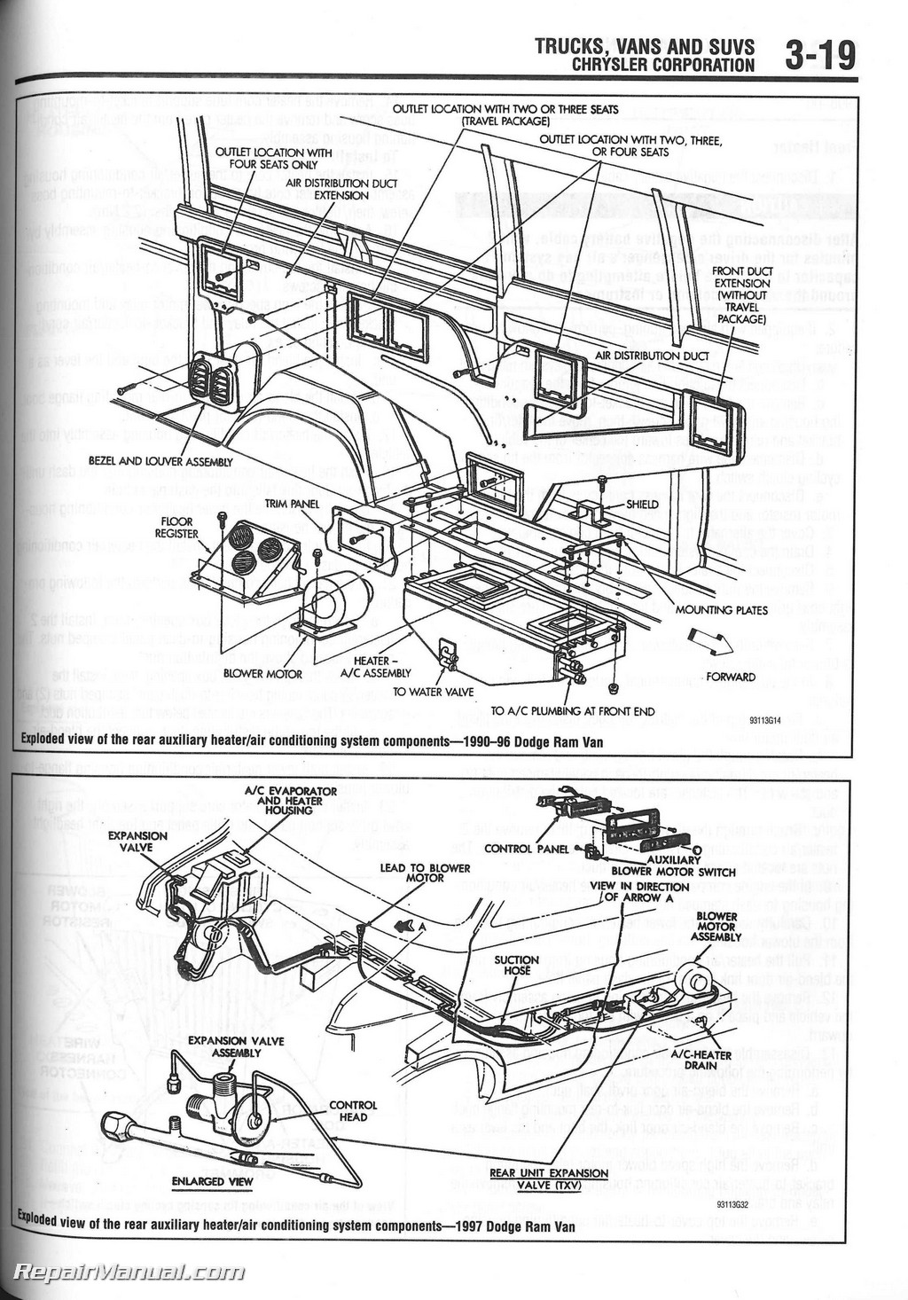 Chilton 1990-2000 Heater Core Installation Manual : CH9311