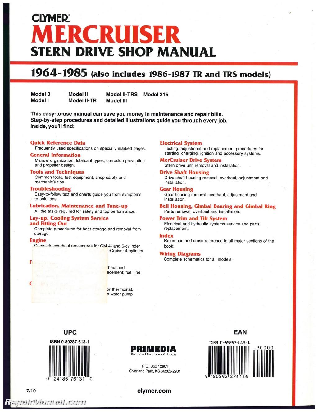 boat wiring diagrams manuals carter electric fuel pump diagram mercruiser stern drive engine shop manual 1964 1987