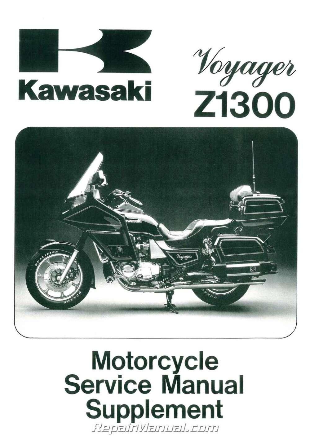 medium resolution of 1983 1989 kawasaki voyager zn1300 motorcycle service manual supplement