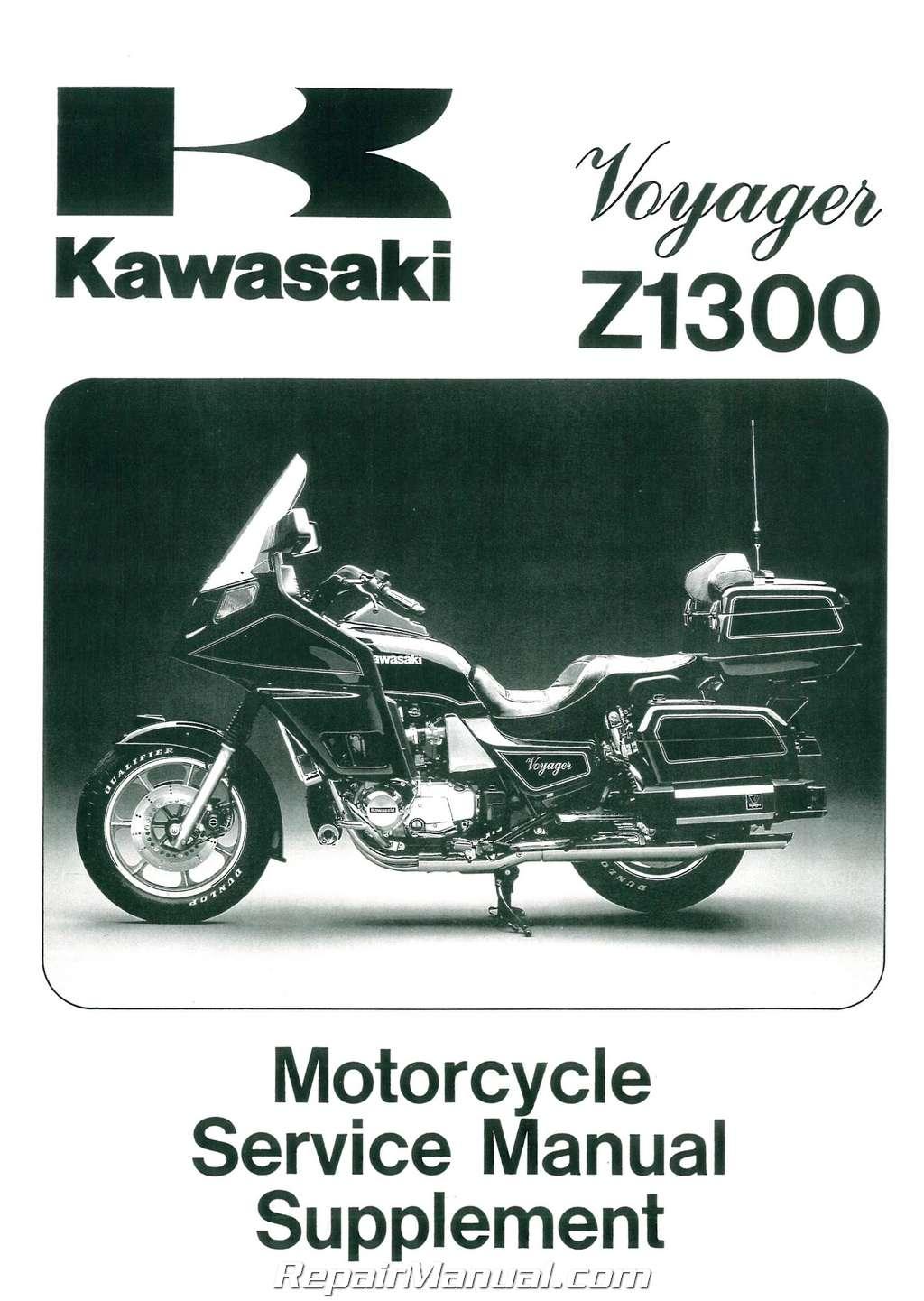 hight resolution of 1983 1989 kawasaki voyager zn1300 motorcycle service manual supplement
