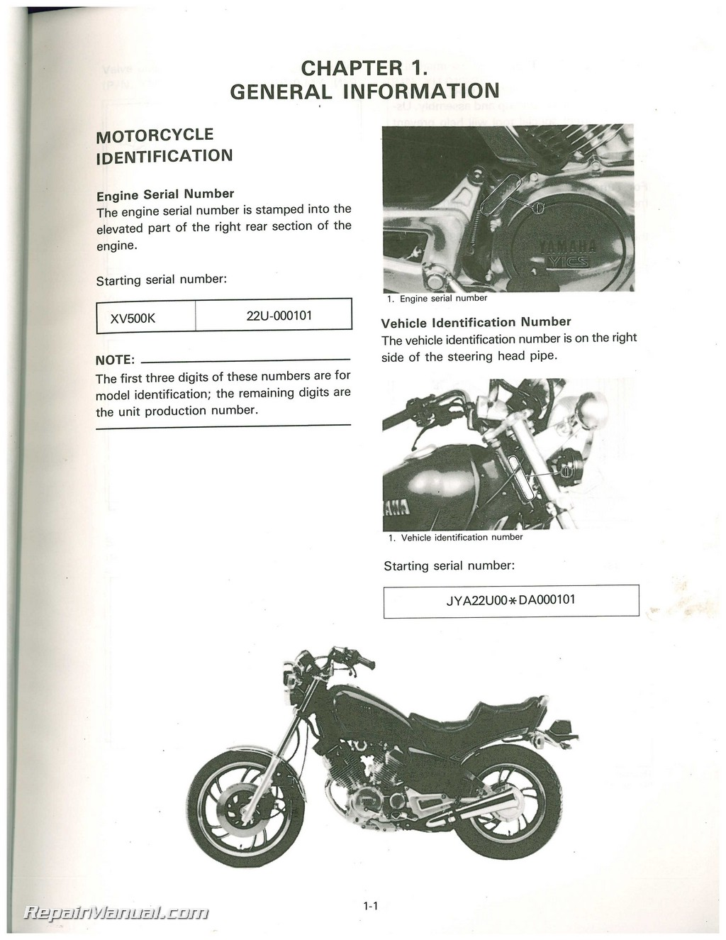 hight resolution of yamaha xv500k color wiring schematic
