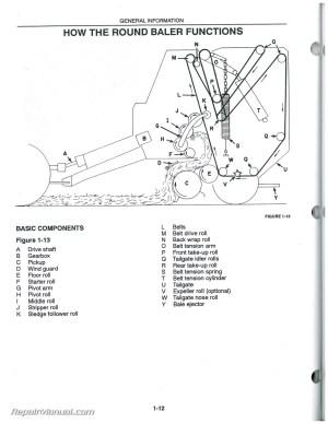 Used New Holland 640 650 660 Round Baler Operators Manual