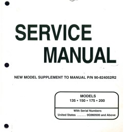 used mariner mercury 135 150 175 200 marine engine service manual supplement [ 1024 x 1325 Pixel ]