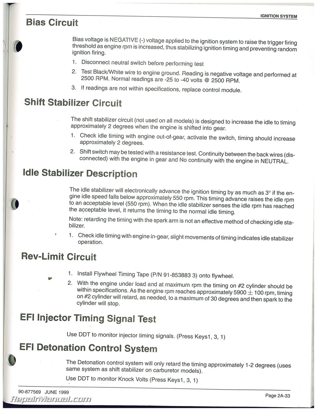 hight resolution of used mariner mercury 135 150 175 200 marine engine service manual supplement