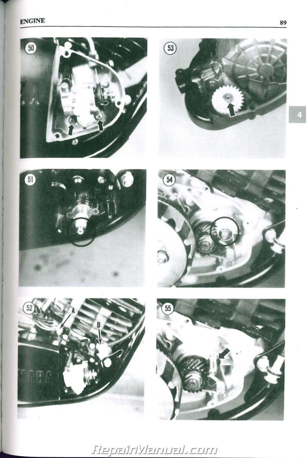 medium resolution of 1977 1983 yamaha dt 100 125 175 250 400 mx100 175 clymer motorcycle repair manual