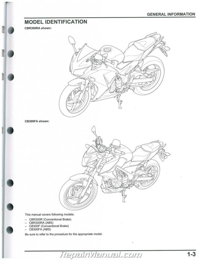 Used 2015 2016 Honda CBR300R Service Manual Motorcycle