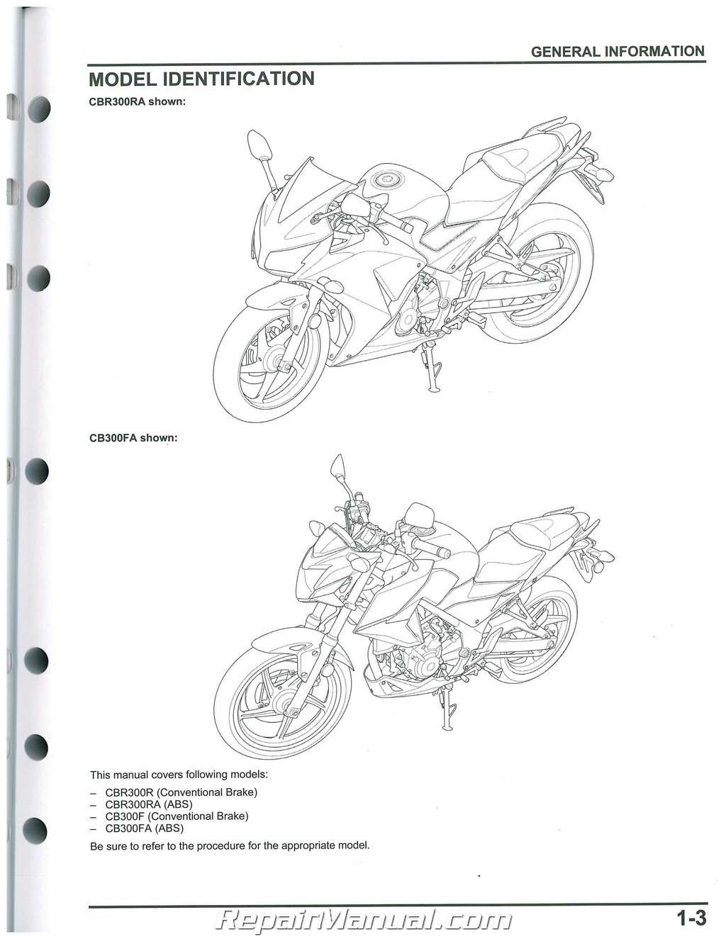 Used Honda Cbr300r Service Manual Motorcycle
