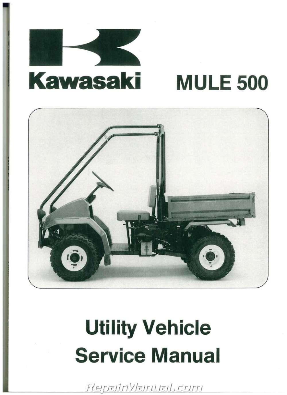 medium resolution of 1990 2004 kawasaki kaf300a mule 500 520 550 utv service manual kawasaki mule 500 service manual