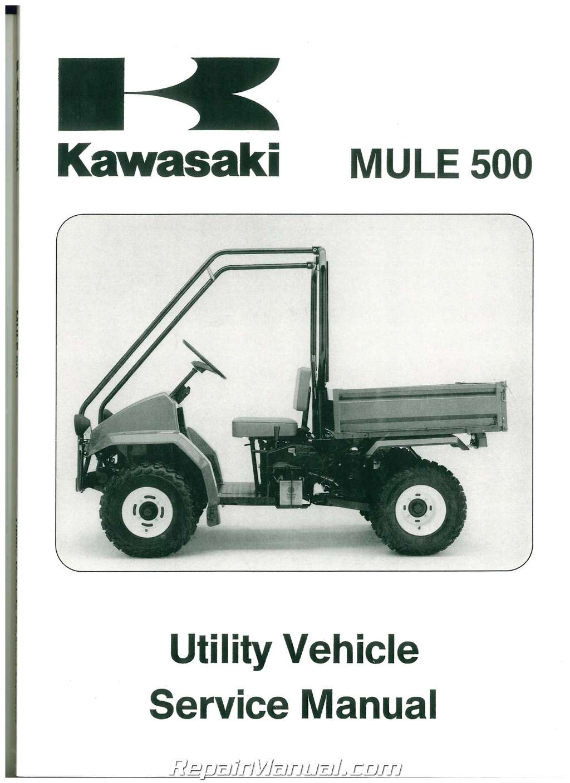 hight resolution of 1990 2004 kawasaki kaf300a mule 500 520 550 utv service manual