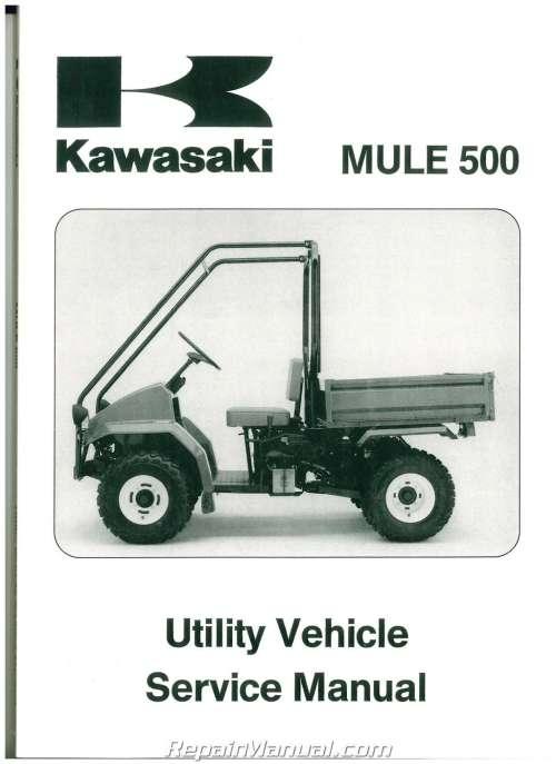 small resolution of 1990 2004 kawasaki kaf300a mule 500 520 550 utv service manual kawasaki mule 500 service manual