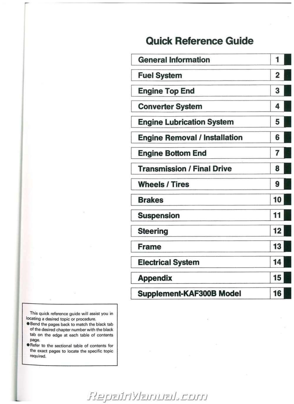 medium resolution of 1998 kawasaki mule 550 wiring diagram