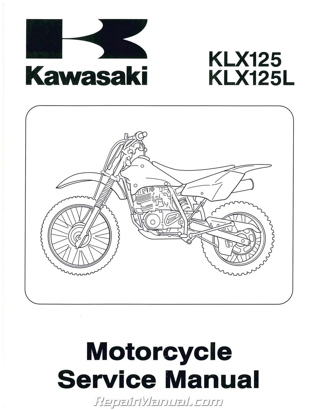 Used 2003 Kawasaki KLX125 KLX125L Motorcycle Repair Manual