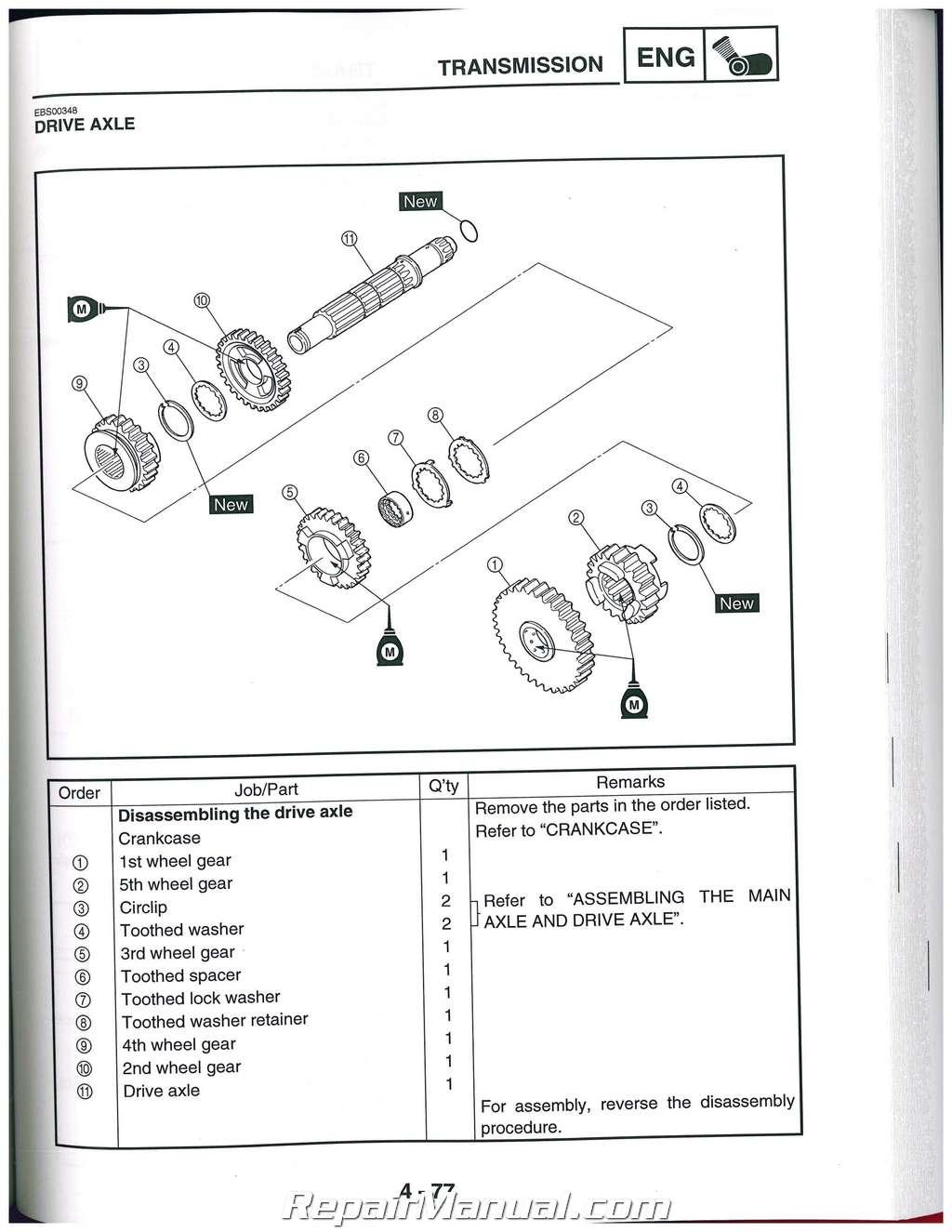 1989 yamaha warrior 350 wiring diagram euro 13 pin plug 1994 yfm get free image