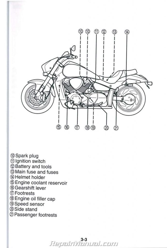 2006 2007 2008 VZR1800K M109 Boulevard Suzuki Motorcycle