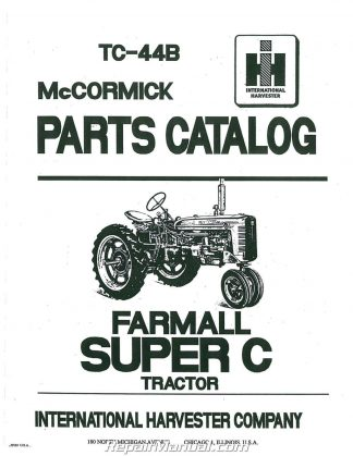 International Harvester A B Parts Manual