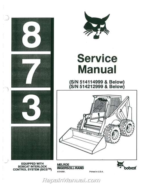 small resolution of bobcat 873 loader service repair manual download sellfy revision number february date revision route attentionaffecting immediately high flow 743ds follow