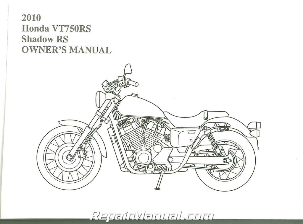 2010 Honda VT750RS Shadow Motorcycle Owners Manual