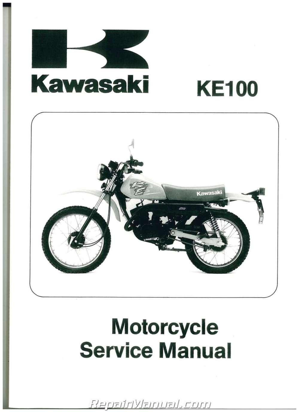 medium resolution of 1979 2001 kawasaki ke100 two stroke motorcycle service manual wiring diagram 2001 kawasaki ke 100