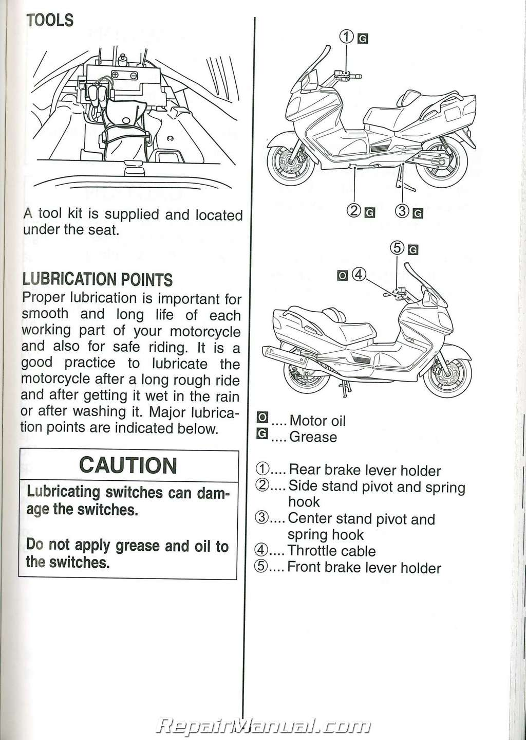 2008 Suzuki AN650K8 Burgman Scooter Owners Manual