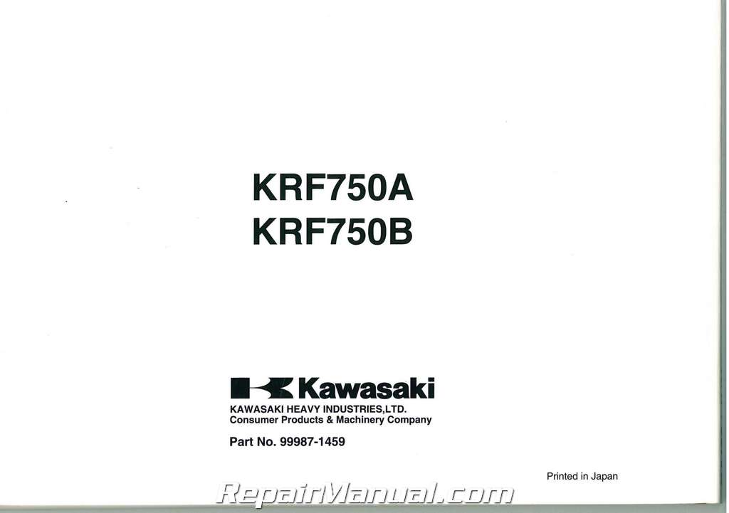 2008 Kawasaki KRF750A B Teryx 4X4 Side by Side Owners Manual