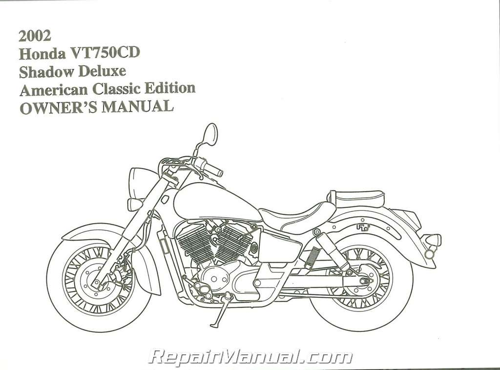 Bestseller: 2002 Honda Shadow Ace 750 Manual