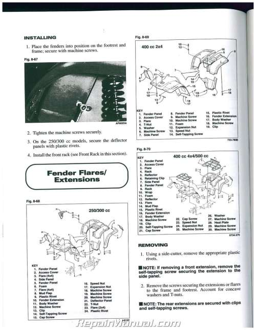 small resolution of 1999 arctic cat 500 4x4 400 4x4 300 4x4 300 2x4 250 2x4 atv service manual